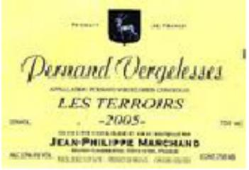 "Pernand Vergelesses ""Les Terroirs"" JP Marchand 2008"
